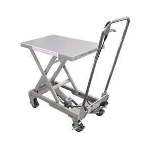 BSA10 alumínium / kézi ollós rozsdamentes acél emelőasztal